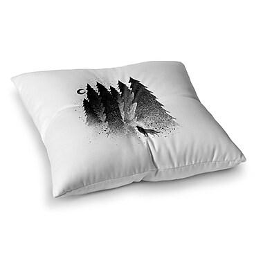 East Urban Home BarmalisiRTB Secret Forest Square Floor Pillow; 23'' x 23''
