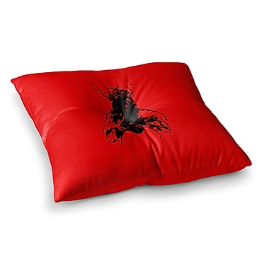 East Urban Home BarmalisiRTB The Fly Square Floor Pillow; 23'' x 23''