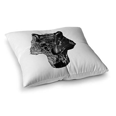 East Urban Home BarmalisiRTB Head Coyote Digital Square Floor Pillow; 23'' x 23''