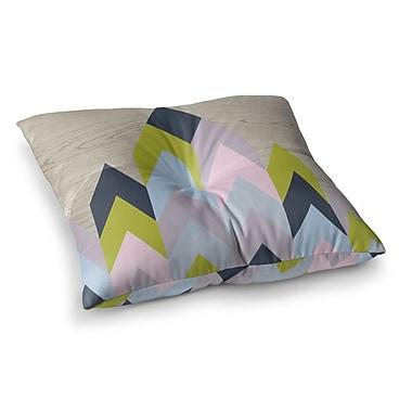 East Urban Home Suzanne Carter Woodgrain Geometric Square Floor Pillow; 26'' x 26''