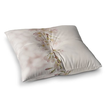 East Urban Home Robin Dickinson It's That Time Floral Photography Square Floor Pillow; 26'' x 26''
