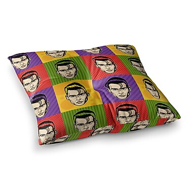 East Urban Home Roberlan Johnny Depop Pop Art Square Floor Pillow; 23'' x 23''