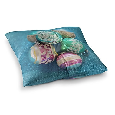 East Urban Home Sylvia Cook Vintage Glass Square Floor Pillow; 26'' x 26''