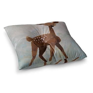 East Urban Home Rachel Kokko Oh Deer Square Floor Pillow; 26'' x 26''
