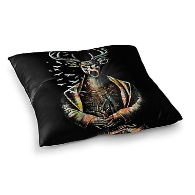 East Urban Home BarmalisiRTB There Is No Place Square Floor Pillow; 26'' x 26''