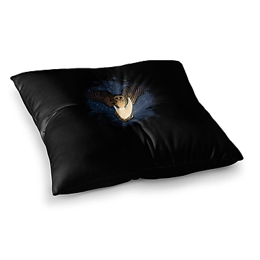 East Urban Home BarmalisiRTB Dead Crow Illustration Square Floor Pillow; 23'' x 23''