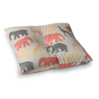 East Urban Home Suzanne Carter Zoo Square Floor Pillow; 23'' x 23''