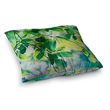 East Urban Home Sylvia Cook Leaves Square Floor Pillow; 23'' x 23''