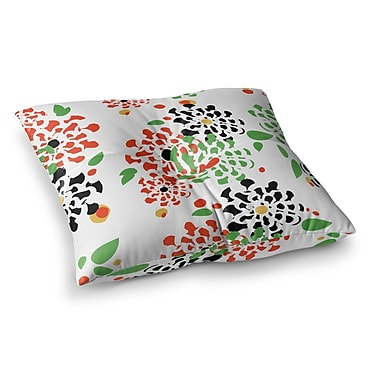 East Urban Home Sonal Nathwani Multi Bouquet Square Floor Pillow; 26'' x 26''