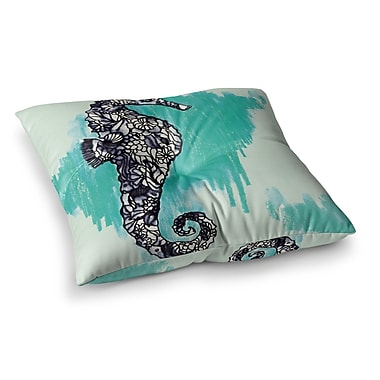 East Urban Home Sonal Nathwani Seahorse Square Floor Pillow; 26'' x 26''