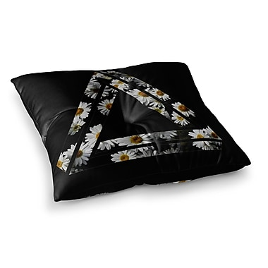 East Urban Home Alias Impossible Daisy Chain Square Floor Pillow; 26'' x 26''