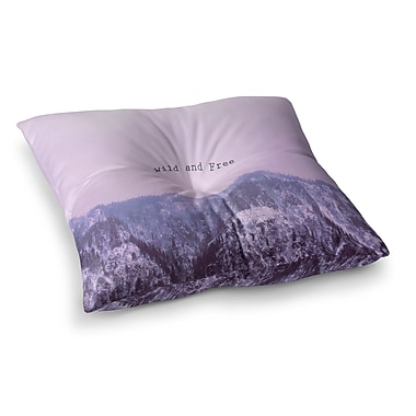 East Urban Home Suzanne Carter Wild and Free 2 Digital Square Floor Pillow; 26'' x 26''