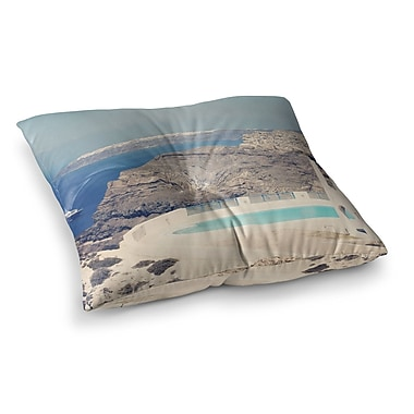 East Urban Home Sylvia Coomes Greek Paradise Square Floor Pillow; 23'' x 23''