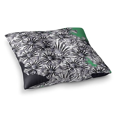 East Urban Home Sonal Nathwani Flowers on Square Floor Pillow; 26'' x 26''