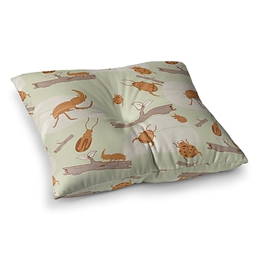 East Urban Home Stephanie Vaeth Beetles Nature Square Floor Pillow; 26'' x 26''