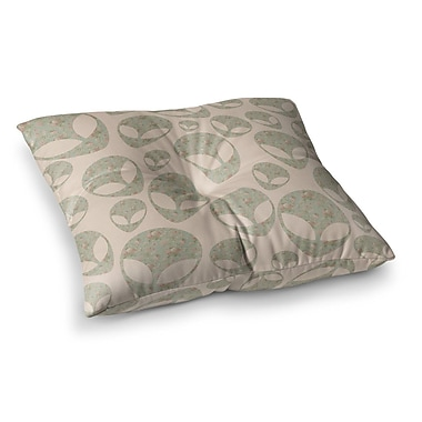 East Urban Home Alias Abducting The Flowers Square Floor Pillow; 26'' x 26''