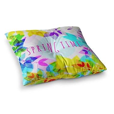 East Urban Home Sreetama Ray Seasons Springtime Leaves Square Floor Pillow; 23'' x 23''