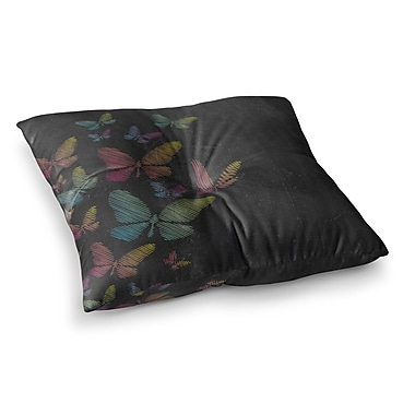 East Urban Home Sarah Oelerich Watermelon Mandala Square Floor Pillow; 26'' x 26''