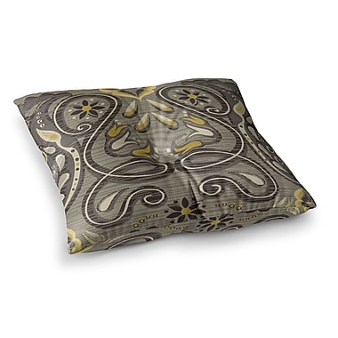 East Urban Home Suzie Tremel Vintage Damask Square Floor Pillow; 23'' x 23''