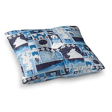 East Urban Home Tobe Fonseca Winter Seasonal Square Floor Pillow; 26'' x 26''