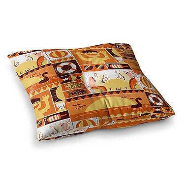 East Urban Home Tobe Fonseca Summer Seasonal Square Floor Pillow; 23'' x 23''