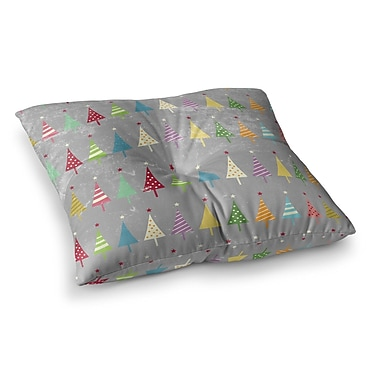 East Urban Home Snap Studio Crazy Trees Frost Square Floor Pillow; 23'' x 23''