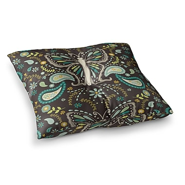 East Urban Home Suzie Tremel Butterfly Garden Square Floor Pillow; 26'' x 26''