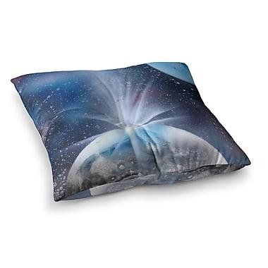 East Urban Home Infinite Spray Art Intergalactic Painting Square Floor Pillow; 26'' x 26''