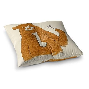 East Urban Home Tobe Fonseca Work Bear Square Floor Pillow; 23'' x 23''