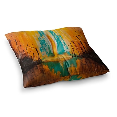 East Urban Home Steve Dix Inception or Birth Square Floor Pillow; 23'' x 23''