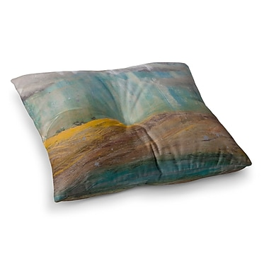 East Urban Home Steve Dix Silent Meadow Painting Square Floor Pillow; 23'' x 23''