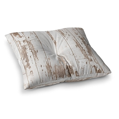 East Urban Home Snap Studio as Snow Simple Square Floor Pillow; 23'' x 23''