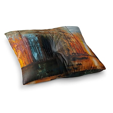 East Urban Home Steve Dix There's Fire Painting Square Floor Pillow; 23'' x 23''