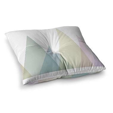 East Urban Home Alias Many Peaks Illustration Square Floor Pillow; 26'' x 26''