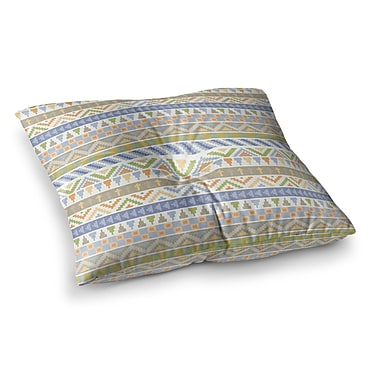 East Urban Home Noonday Design Happy Tribal Pattern Square Floor Pillow; 26'' x 26''