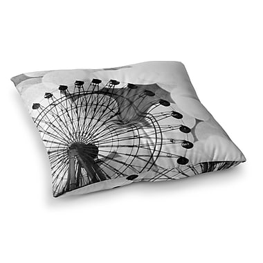 East Urban Home Sylvia Coomes Ferris Wheel Square Floor Pillow; 26'' x 26''