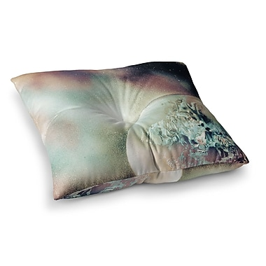 East Urban Home Infinite Spray Art Space Dust Space Planet Square Floor Pillow; 26'' x 26''