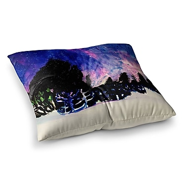East Urban Home Theresa Giolzetti First Snow Square Floor Pillow; 23'' x 23''