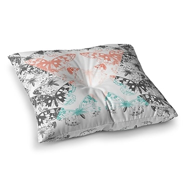 East Urban Home Victoria Krupp Geo Butterflies Illustration Square Floor Pillow; 23'' x 23''