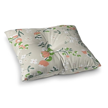 East Urban Home Very Sarie Early Waking Floral Square Floor Pillow; 26'' x 26''