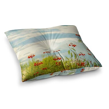 East Urban Home Sylvia Coomes Cardinal Photography Square Floor Pillow; 26'' x 26''