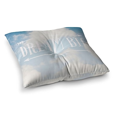 East Urban Home Susannah Tucker Dream Big Clouds Square Floor Pillow; 26'' x 26''