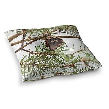 East Urban Home Sylvia Coomes Pinecone Square Floor Pillow; 23'' x 23''