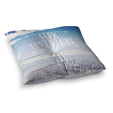 East Urban Home Susannah Tucker Seek Adventure Beach Square Floor Pillow; 26'' x 26''