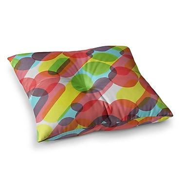 East Urban Home Tobe Fonseca Bubble Burst Pattern Digital Square Floor Pillow; 26'' x 26''