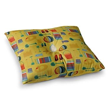 East Urban Home Susan Sanders Rustic Bricks Square Floor Pillow; 26'' x 26''