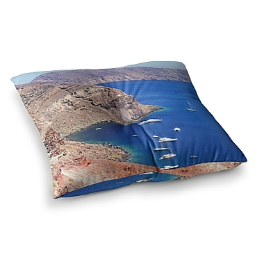 East Urban Home Sylvia Coomes Santorini Coastline Square Floor Pillow; 23'' x 23''