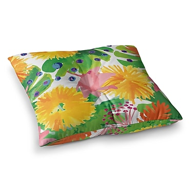 East Urban Home Yenty Jap Tropical Flowers Burst Square Floor Pillow; 26'' x 26''
