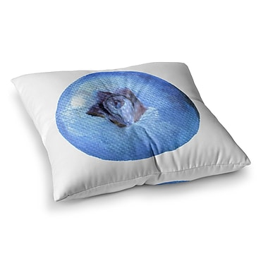 East Urban Home Theresa Giolzetti Blueberry Square Floor Pillow; 26'' x 26''