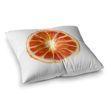 East Urban Home Theresa Giolzetti Grapefruit Square Floor Pillow; 23'' x 23''